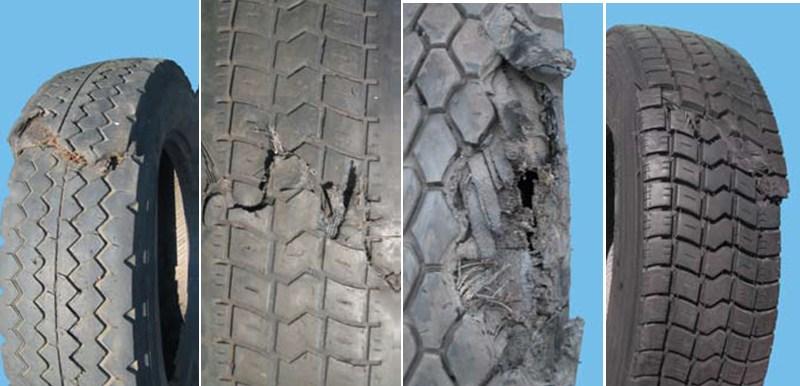 Повреждения шин